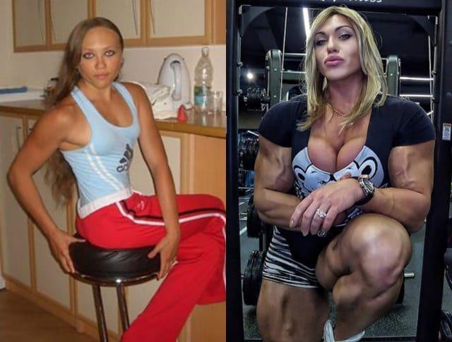 бодибилдинг женщины преображение спорт фигура