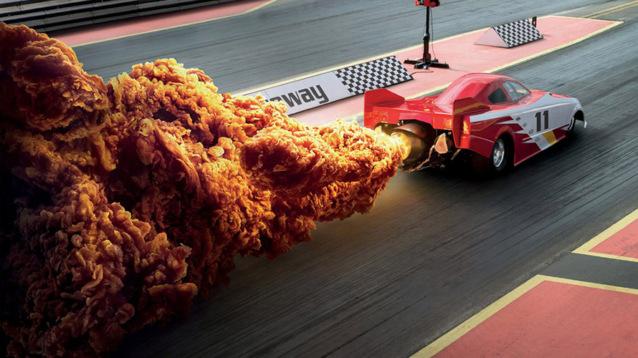 Курица — огонь! KFC показала, как сильно острые стрипсы похожи на взрывы (2 фото)