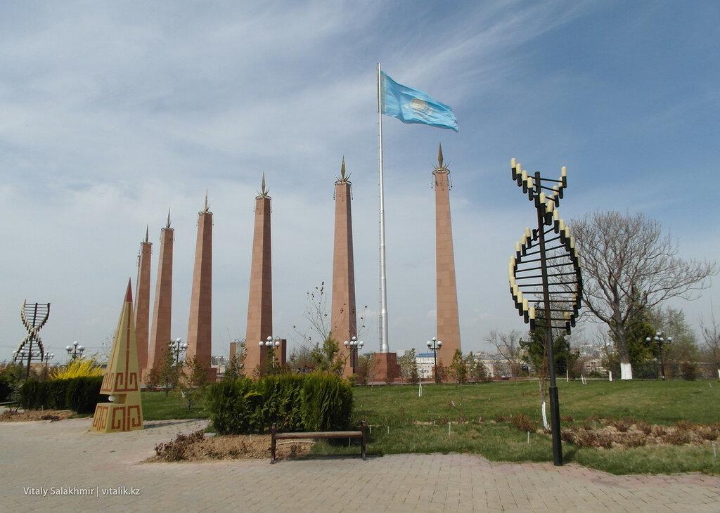 Вход в Парк Независимости Шымкент