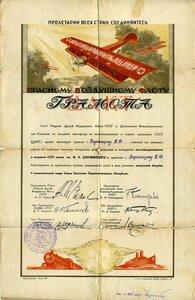 1925 За активную работу по созданию стальных воздушных птиц