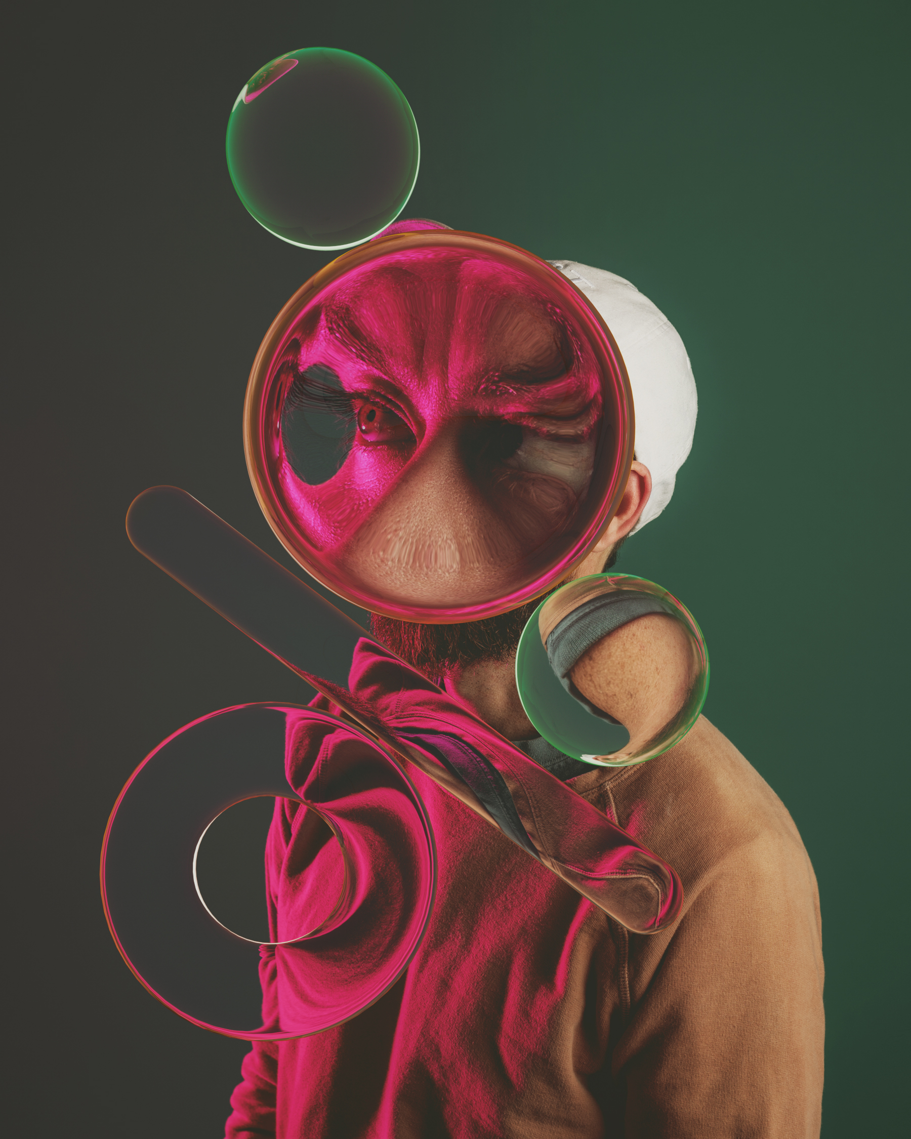 Fun Self-Portraits That Play with Lenses and Refraction (6 pics)