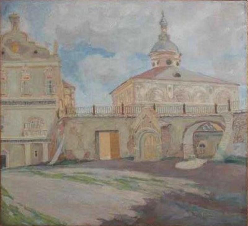 1945 г. Уголок Рязанского кремля. Болховитин К. И.jpg