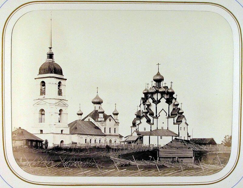 1865 Вид на церковь и колокольню Вытегорского погоста.jpg