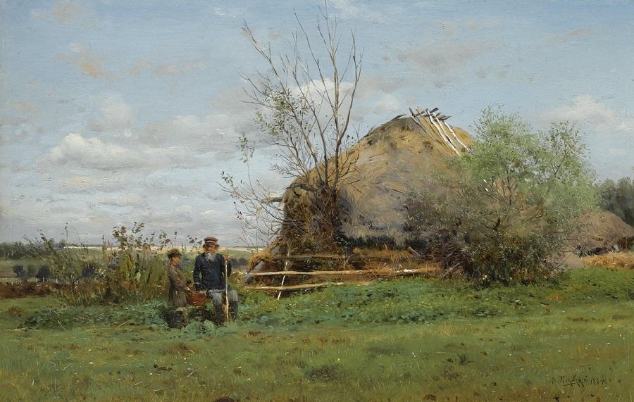 Ранняя осень в деревне , 1884