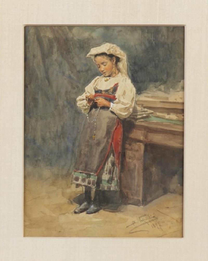 Портрет молодой итальянской крестьянки, 1897.