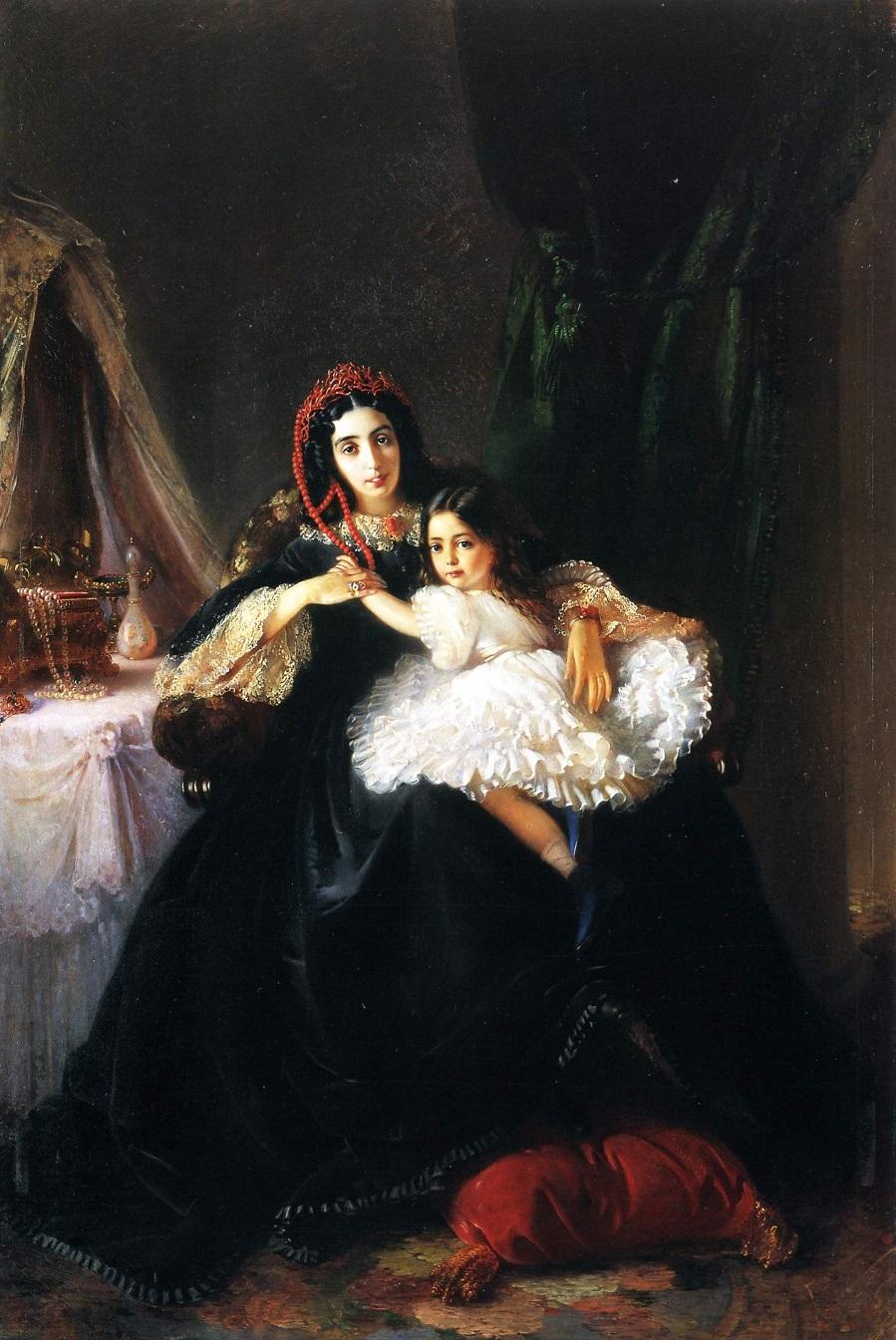 Портрет графини Ржевусской с дочерью  Киевский национальный музей русского искусства, Украина