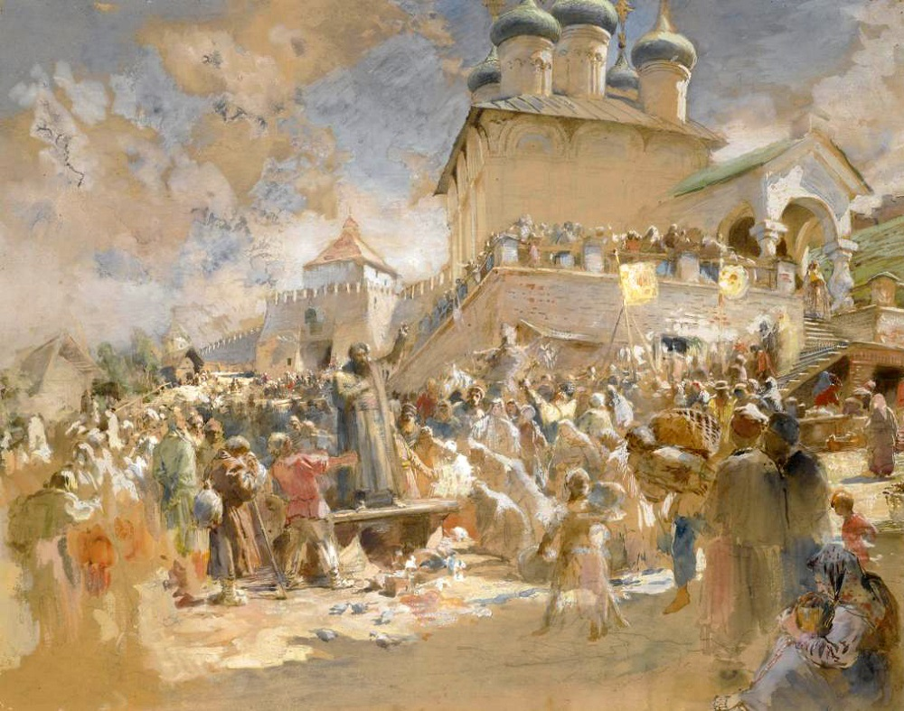 SKETCH FOR MININ APPEALS TO THE PEOPLE OF NIZHNY NOVGOROD