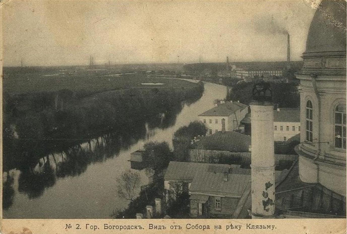 Вид от Собора на реку Клязьму