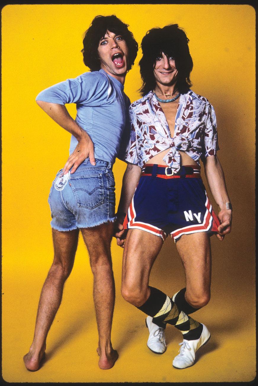 1977. Мик Джаггер и Рон Вуд