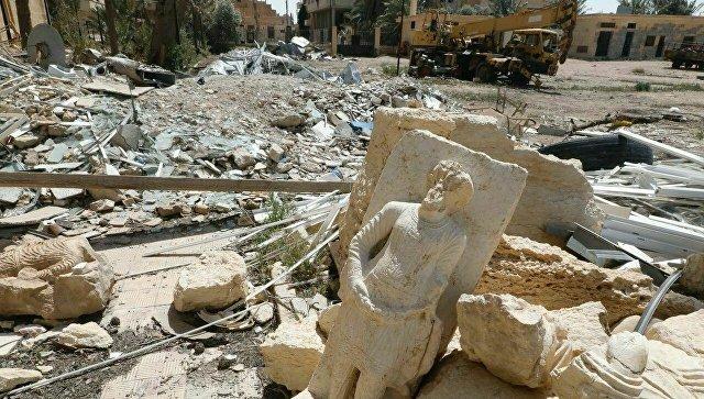 Разрушения в Дамаске в Сирии. 14 апреля 2018© Фото : департамент общественных и внешних связей ХМАО