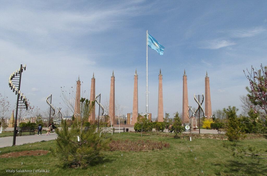 Вход в Парк Независимости, Шымкент