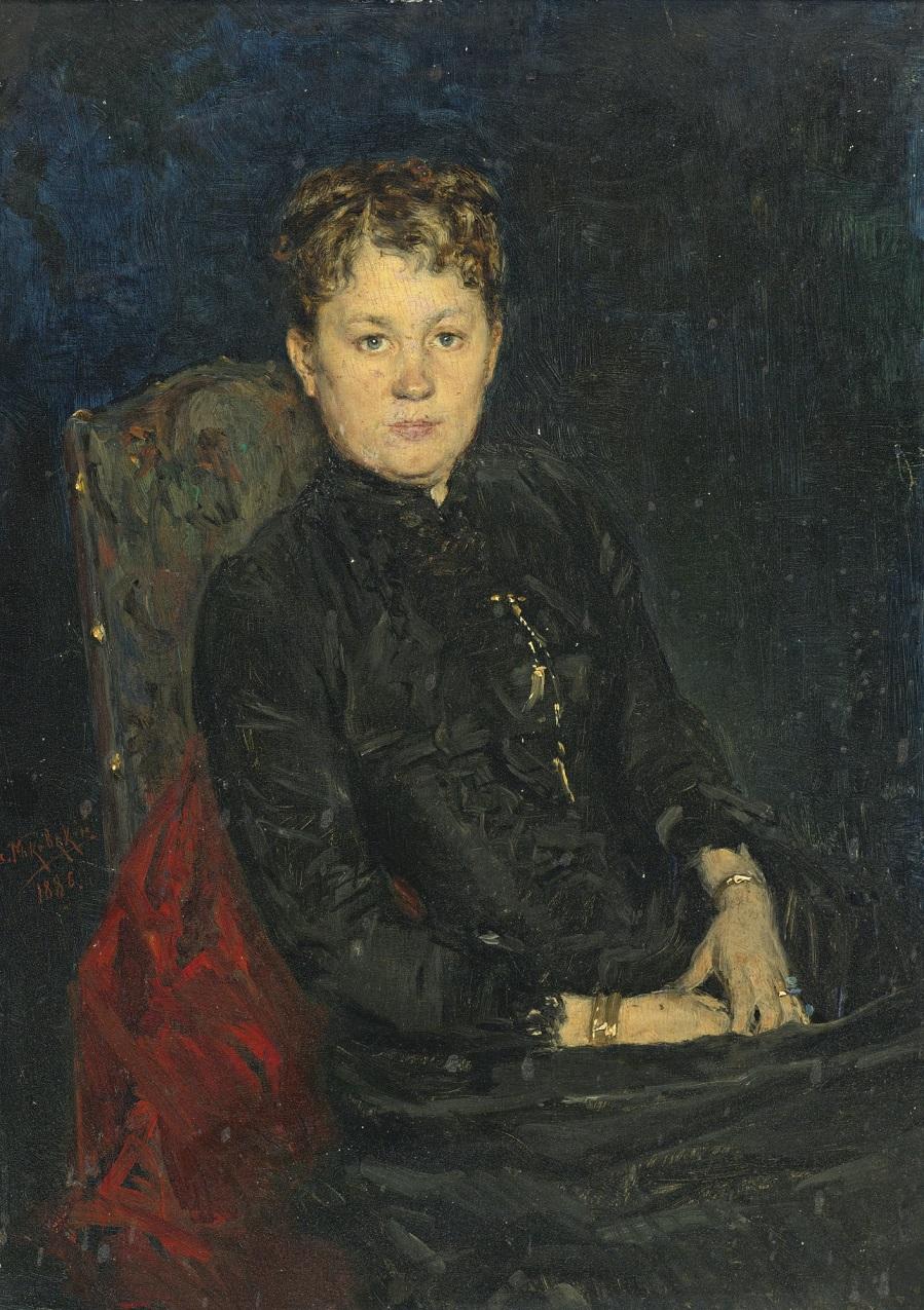 ПОРТРЕТ ЖЕНЩИНЫ, 1886.