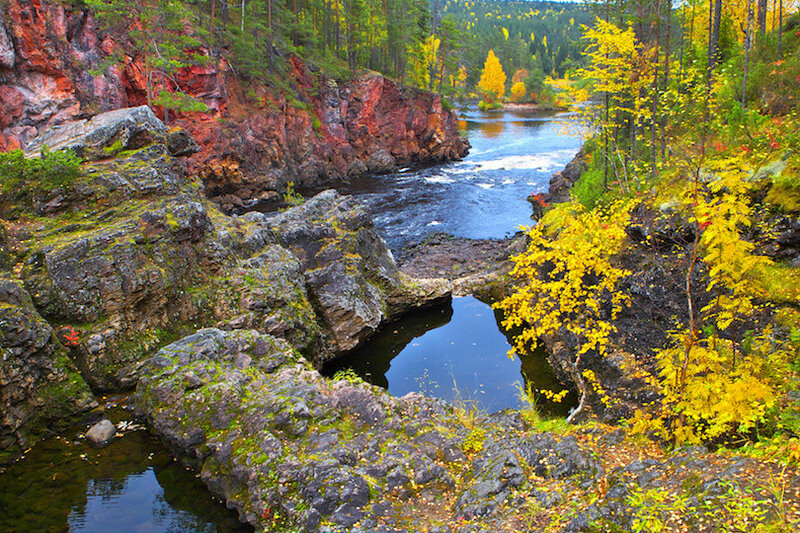 Oulanka canyon in autumn.