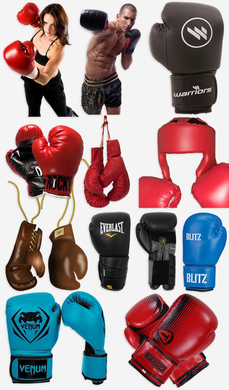 боксёрские перчатки PNG на прозрачном фоне