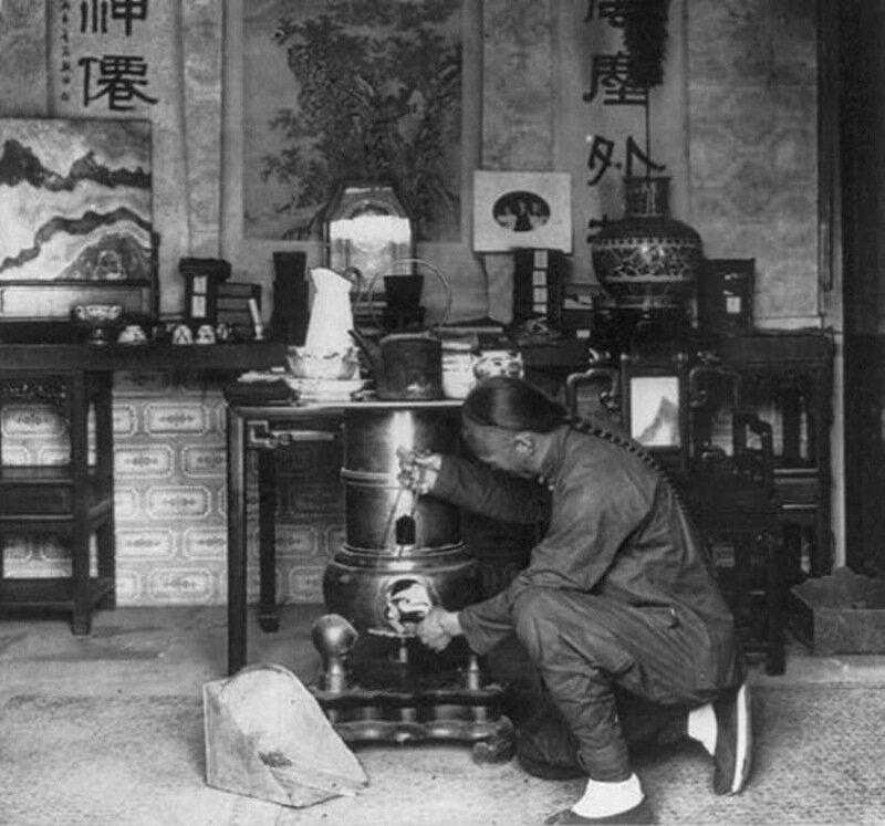 Приготовление чая в Пекине