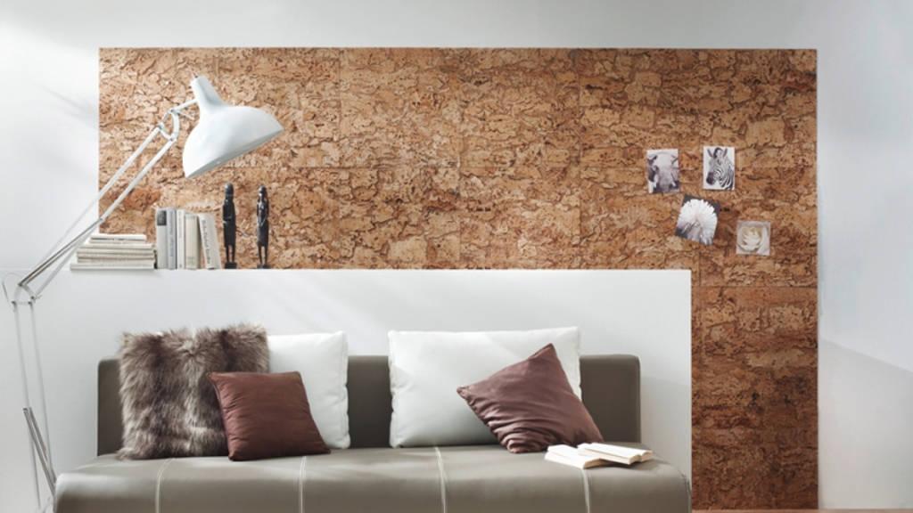 отделка стен пробковым покрытием