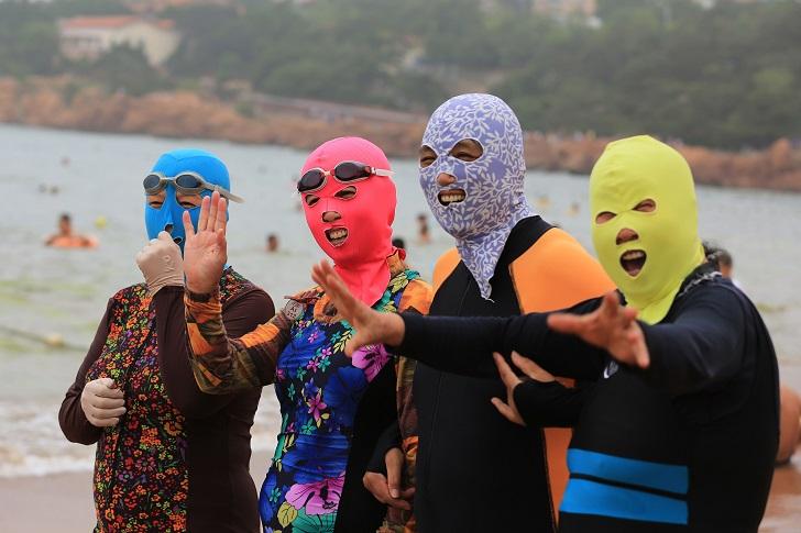 Мода на китайских пляжах — фейскини