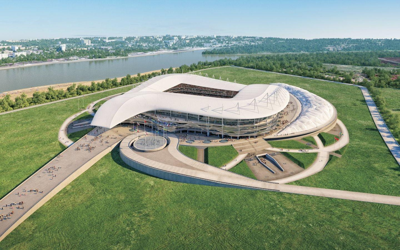 В настоящие время в городе Ростове-на-Дону строится большой фубольный стадион - Ростов Арена, которы