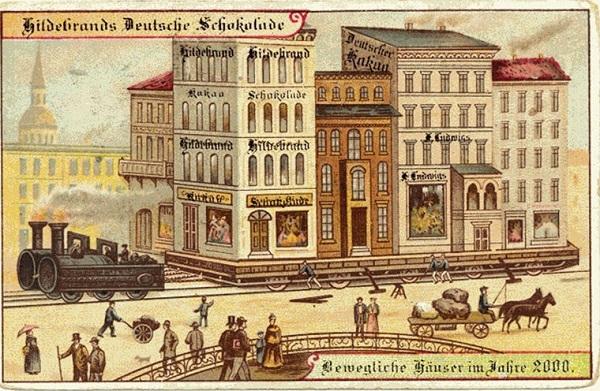 А вот так, по мнению художников, рисовавших открытки для московской кондитерской фабрики «Товарищест