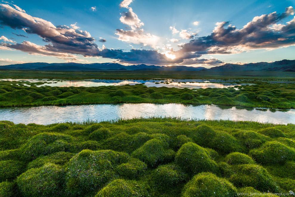 8. Двинули дальше к горным озерам, вдоль самой большой реки Монголии — Ховд. Не буду говорить,