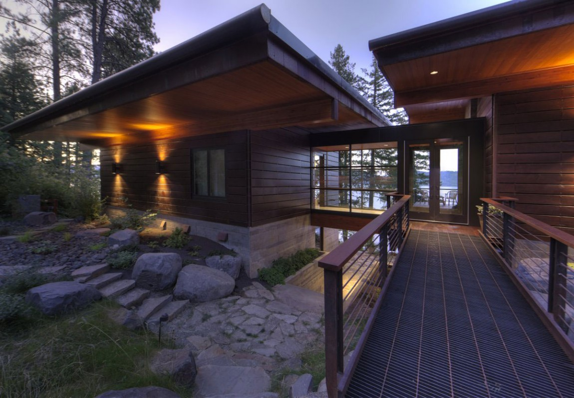 Дом на крутом склоне от Uptic Studios (12 фото)