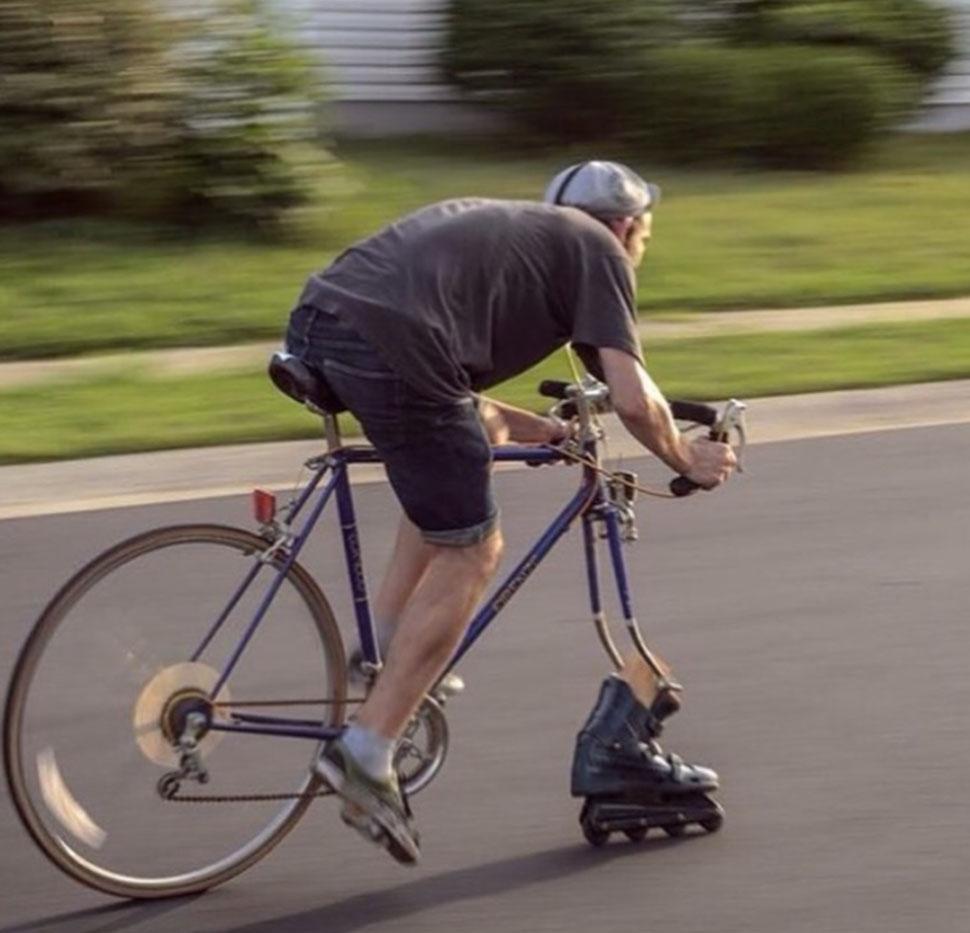 Кому нужно одно велосипедное колесо, когда есть четыре роликовых?