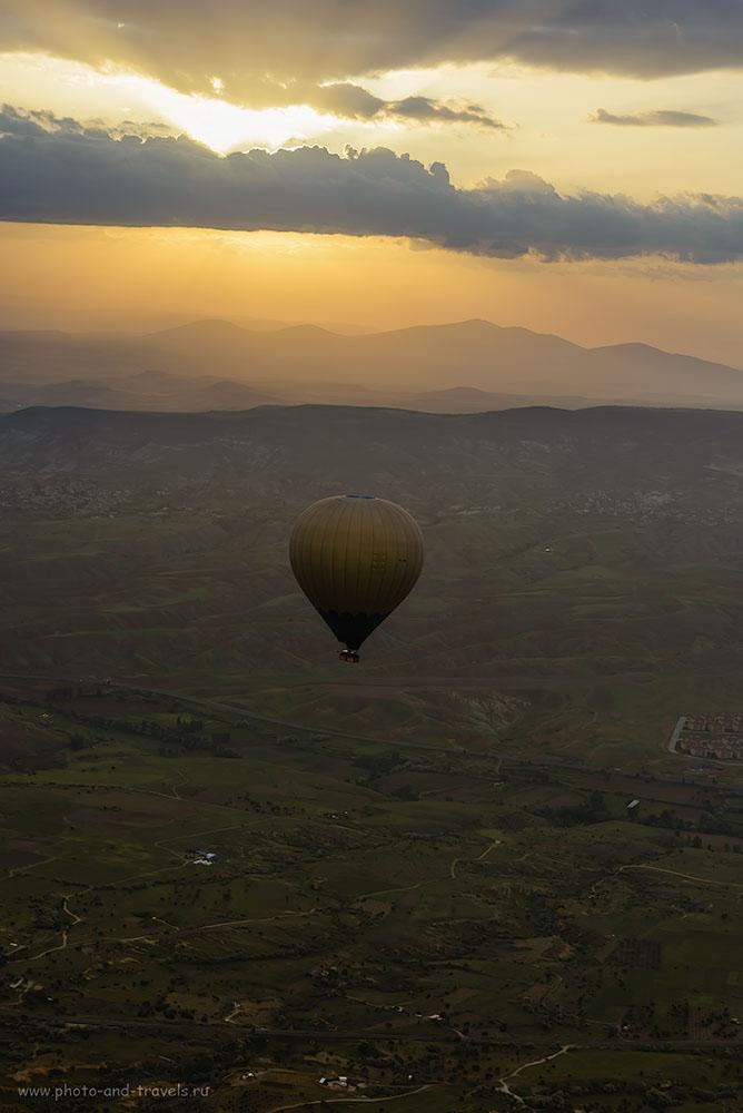 Фотография 14. Рассвет в небе над Каппадокией. Отзывы туристов о полете на воздушном шаре в Турции. 1/160, -0.67, 8.0, 125, 70.