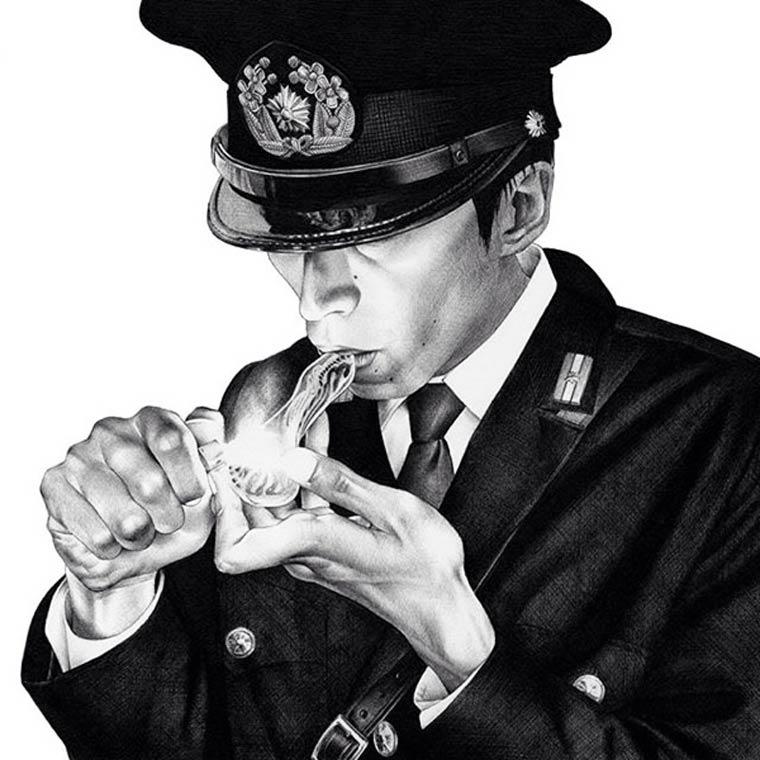 Les illustrations explosives de Shohei Otomo, le fils du celebre createur d'Akira