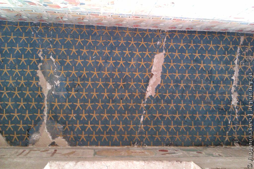 потолок в храме Хатшепсут