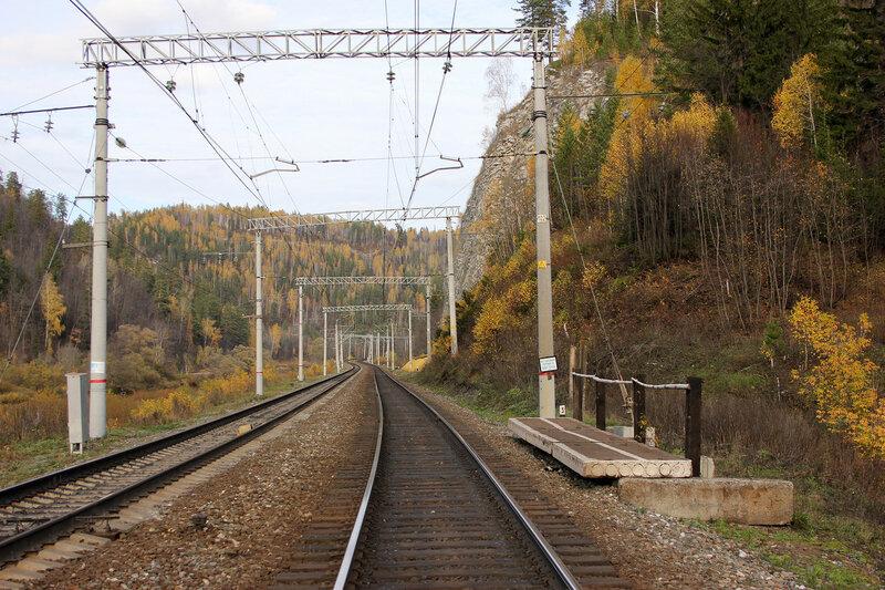 Платформа 1753 км. Перегон Биянка - Симская