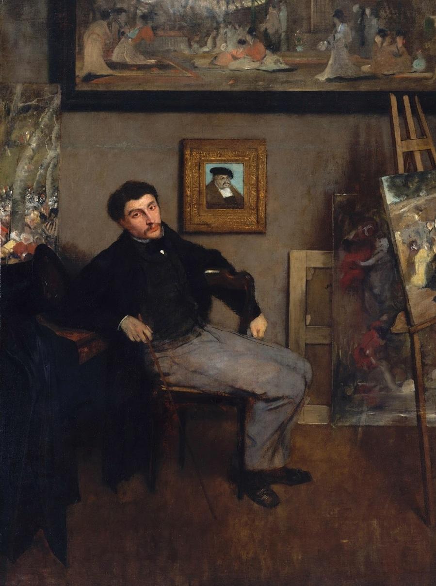Edgar Degas, 1834-1917 Портрет Джеймса Тиссо Нью-Йорк, музей Метрополитен.jpg