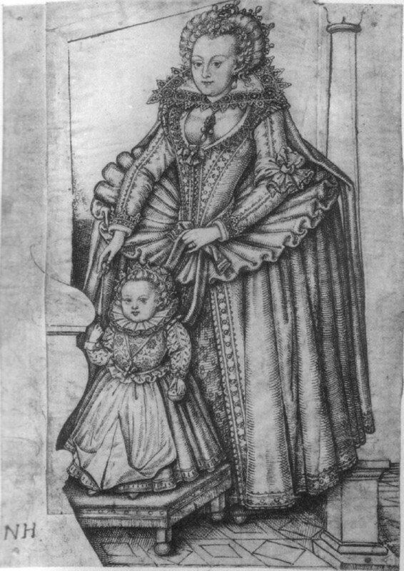 33Elizabeth StuartKurfürstin der Pfalzihr Sohn Frederick Henr.JPG