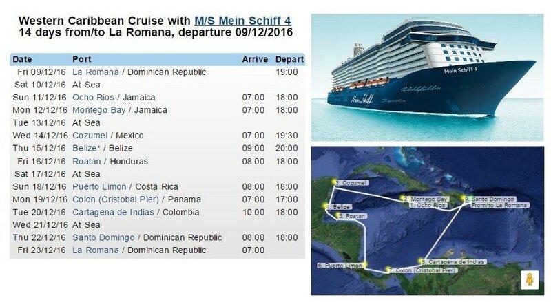 Западные Карибы на TUI Mein Schiff 4 по Tabacoвски, т.е.бюджетно, но славненько.