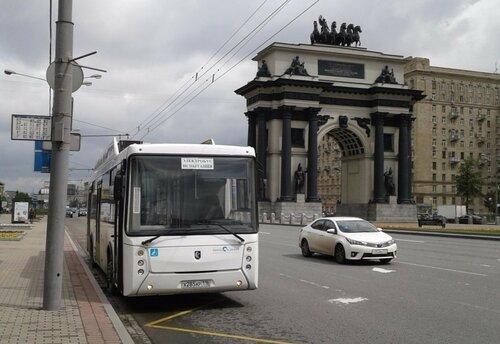 КамАЗ вывел электробус на линию Москва-Сколково