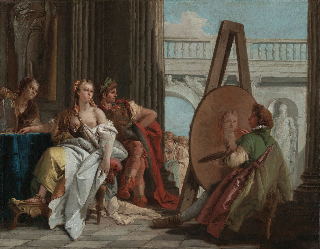 1726 Giovanni_Battista_Tiepolo_(Italian_-_Alexander_the_Great_and_Campaspe_in_the_Studio_of_Apelles_-_Google_Art_Project.jpg