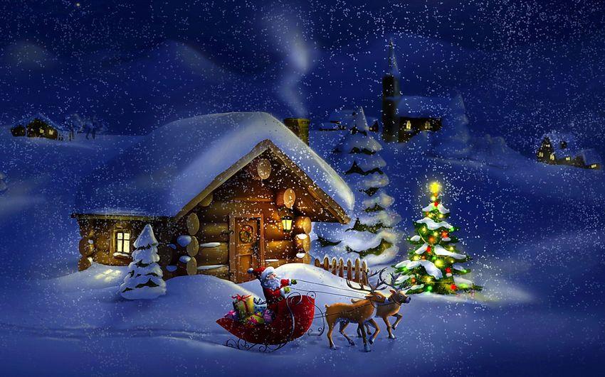 Новый год Картинки Сказка Новогодние пейзажи
