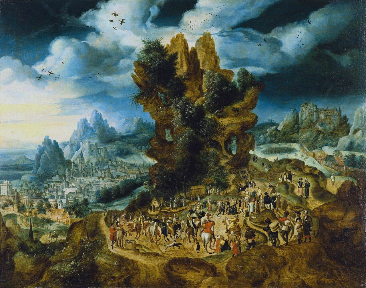 Christ bearing the cross, by Herrie met de Bles