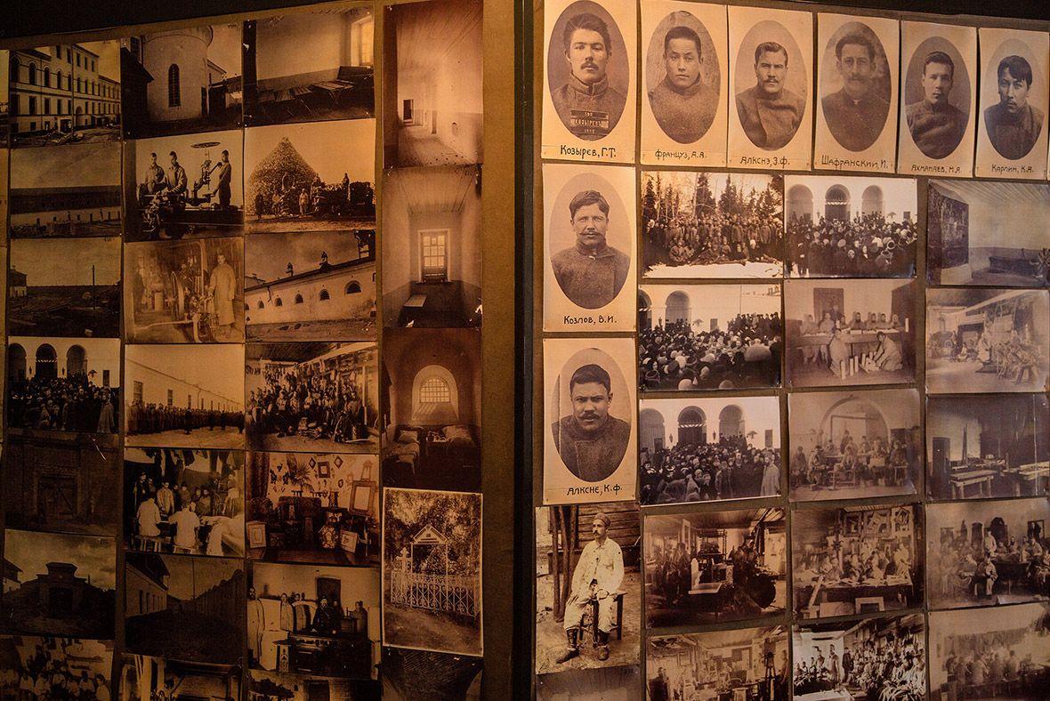 Фотографии бывших узников Тобольского тюремного замка.