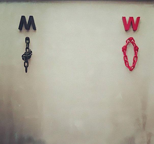 Никаких больше стандартных «Мэ» и «Жо» — самые креативные туалетные знаки