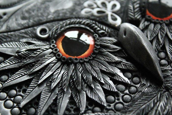 8. Глаз совы. Работа Анико Колесниковой.