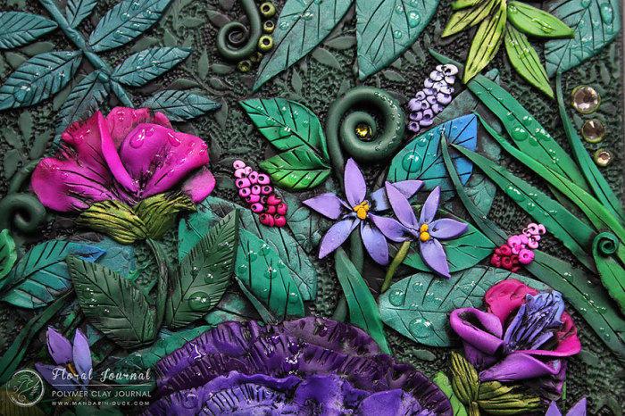 13. Цветы на блокноте от Mandarin Duck.