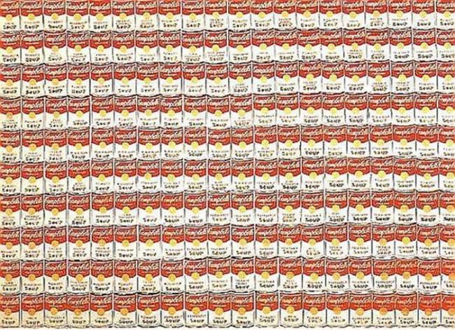 © studyblue.com  В1960–1962 годах появился ряд картин сизображением консервных банок ссупом