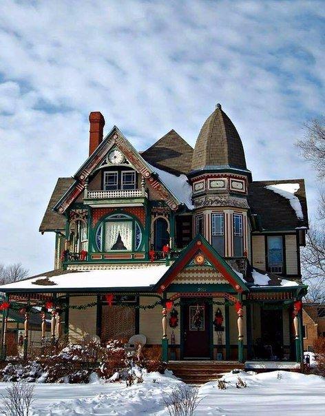 Дома в викторианском стиле (5 фото)