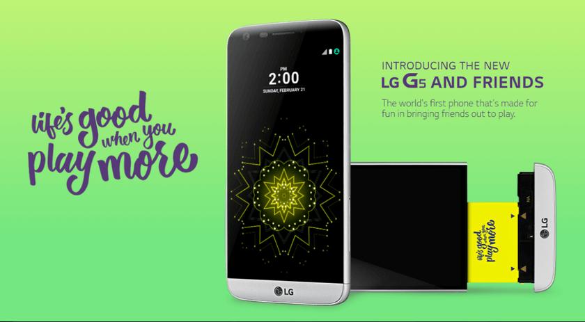 Широко разрекламированный модульный смартфонLG G5 оказался никому ненужен