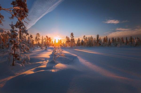Зима в Мурманской области