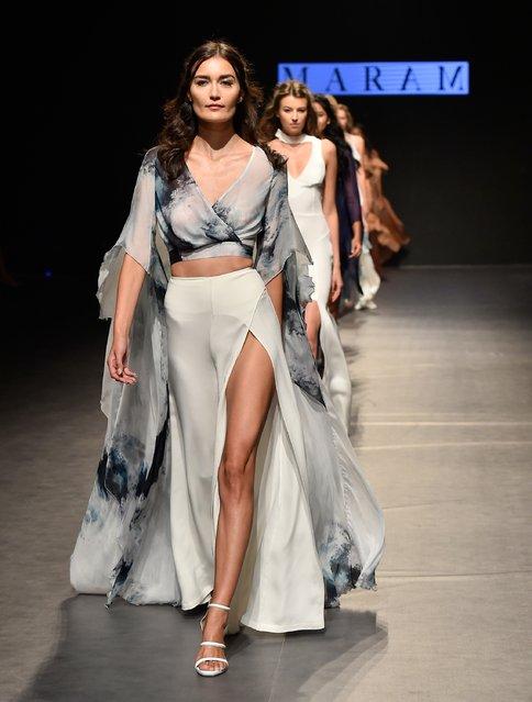 Models walk the runway at the Maram show during Fashion Forward Spring/Summer 2017 at the Dubai Desi