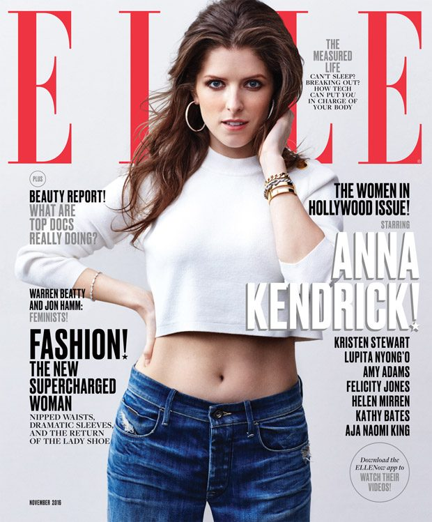 Anna Kendrick Styled By Samira Nasr Sweater by Calvin Klein. Jeans by Calvin Klein Jeans. Earrings b