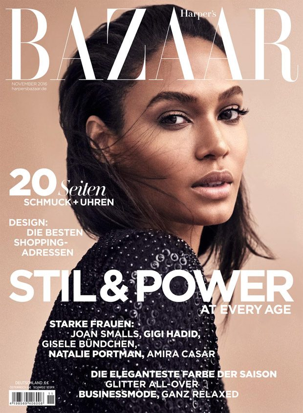 Joan Smalls Stuns for Harper's Bazaar Germany November Cover Story