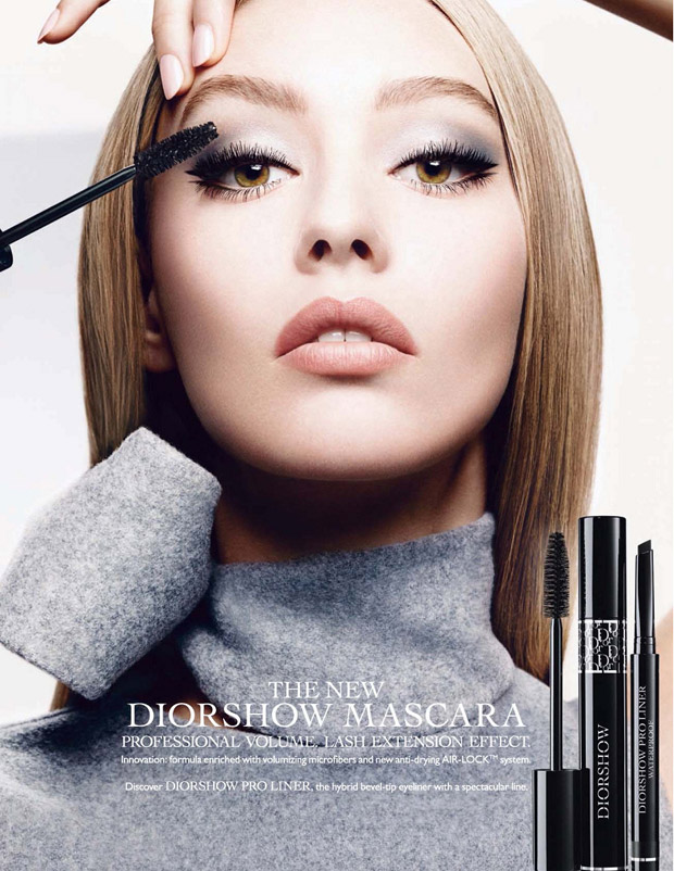 Ondria Hardin for Diorshow Beauty 2015 (2 pics)