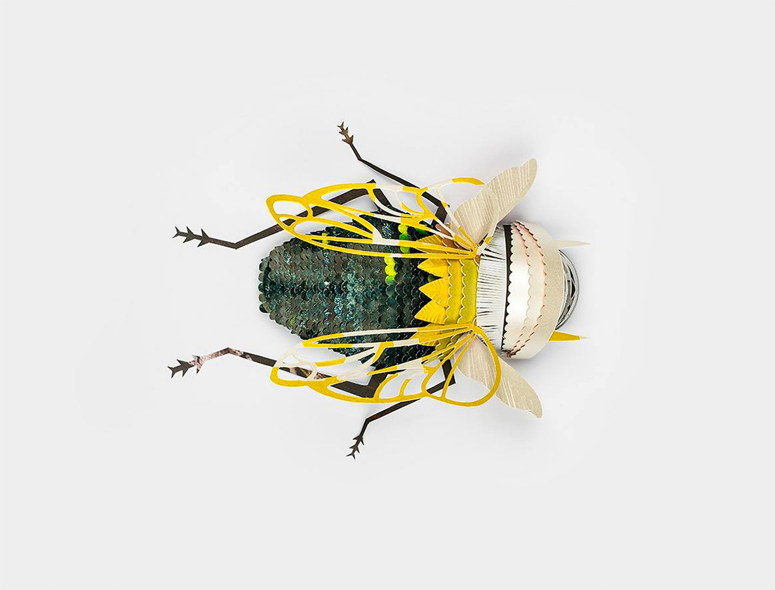 Reclaimed Paper Insects by 'Soon'
